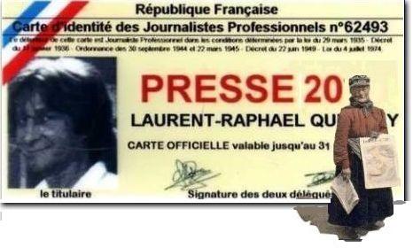 Carte de presse de Laurent Quevilly